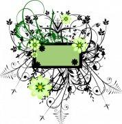 綠色和黑色花紋
