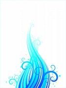 浅蓝色花纹