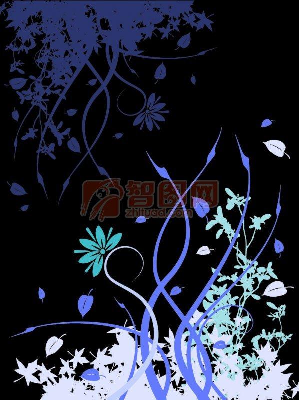 【ai】黑色背景花纹设计_图片编号:201102140920355591_智图网_www.zhituad.com