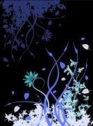 黑色背景花紋設計