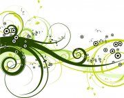 深綠色花紋設計