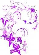 紫红色花纹素材