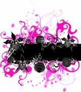 黑色和粉紅色花紋