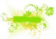 綠色素材花紋