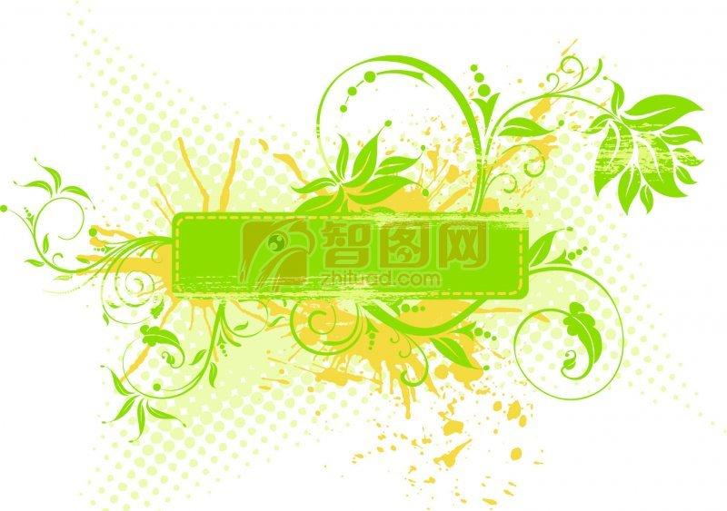 绿色素材花纹