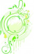綠色花紋設計