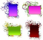 長方形花紋設計