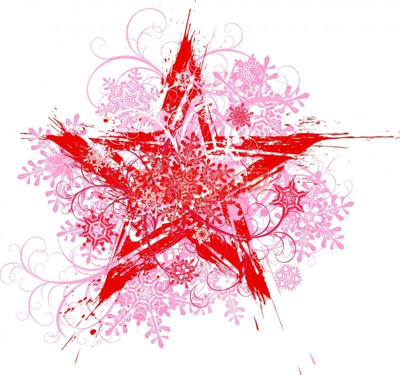 红色五星花纹