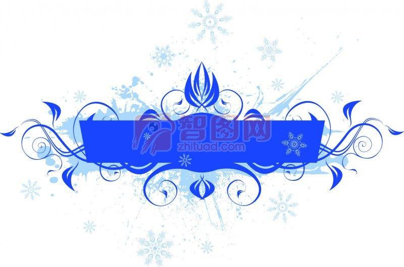 藍色花紋設計