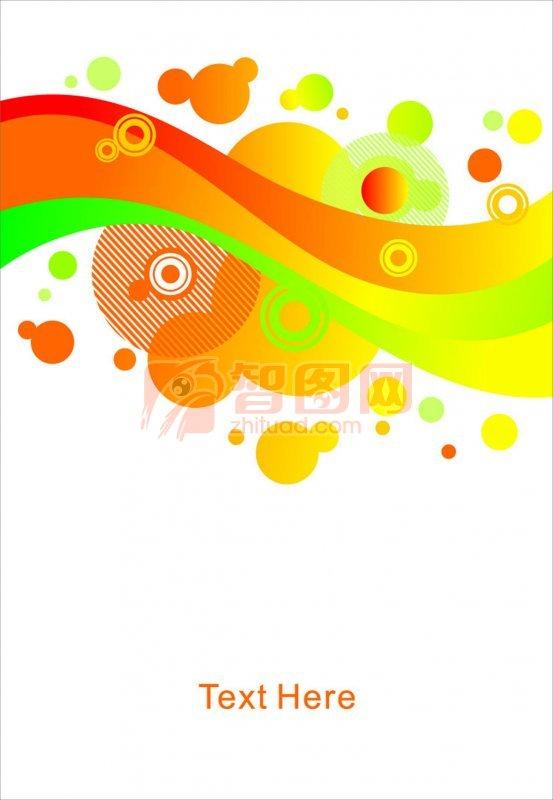 五色线条花纹