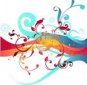 五色花纹设计