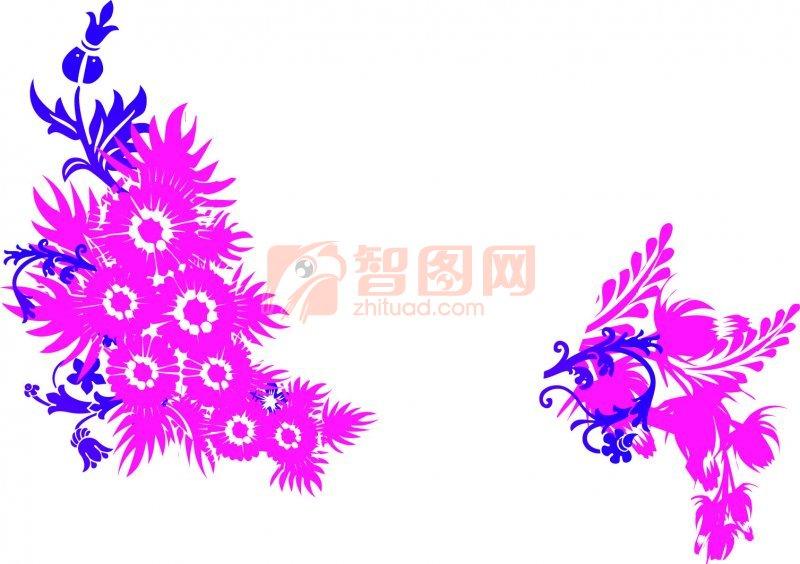粉红色花纹设计