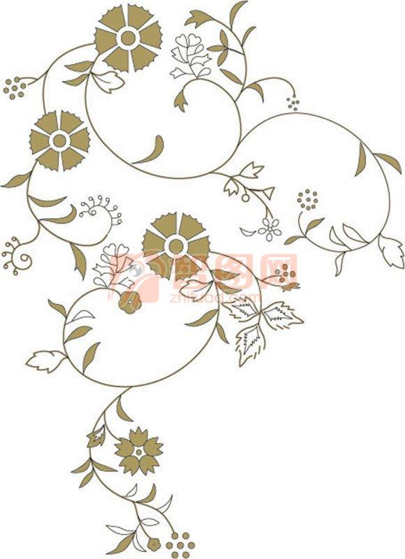 圆盘花边图案简单