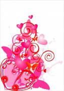 粉红色花纹