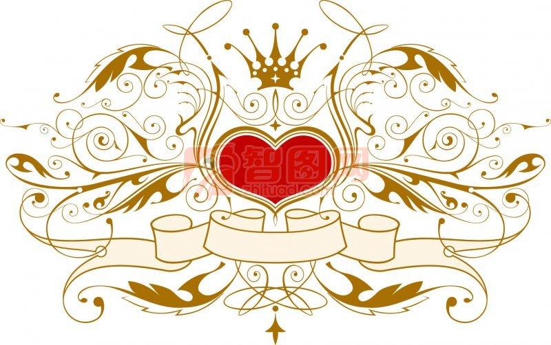 白色花纹与皇冠欧式花边