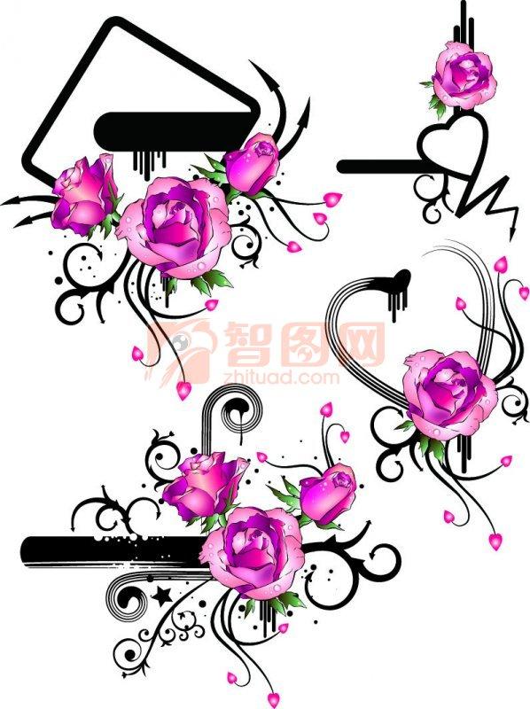 玫瑰花花紋設計
