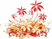 红色花纹设计