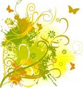 鮮花花紋設計