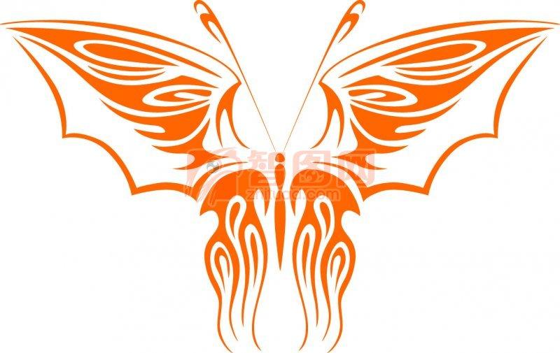 关键词: 橘黄色线条 翅膀元素 橘黄色蝴蝶 蝴蝶花纹素材 蝴蝶设计