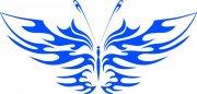 蓝色蝴蝶设计元素