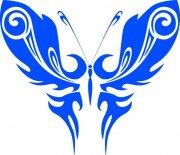 蓝色蝴蝶元素01