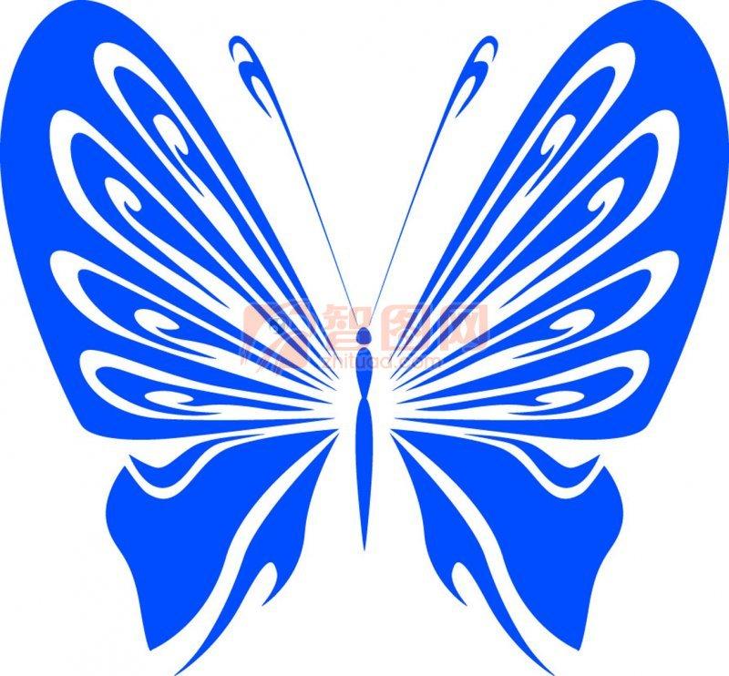 矢量专区 生物世界 昆虫  关键词: 蝴蝶元素 蓝色线条 翅膀素材 蝴蝶