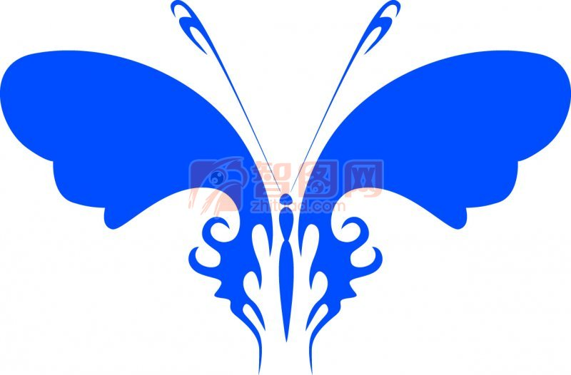 生物世界 昆虫  关键词: 蝴蝶元素 蓝色翅膀 蓝色蝴蝶 蝴蝶设计元素