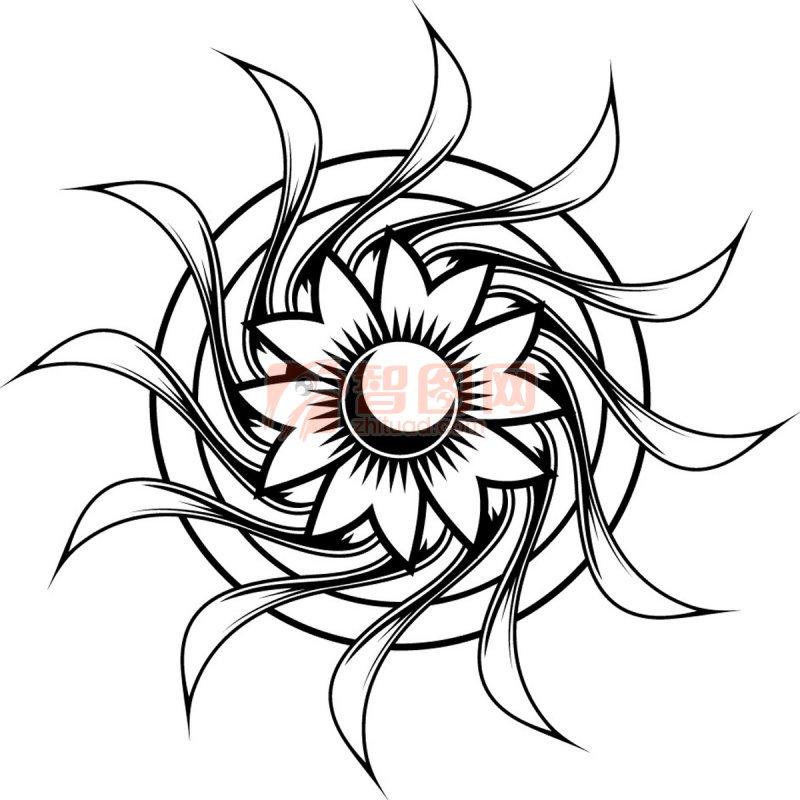 艺术纹身 圆形纹身