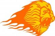 狮子花纹火焰元素