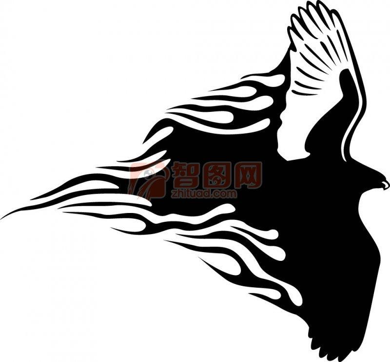 印第安素材雄鹰手绘