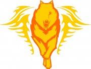 狼花纹设计