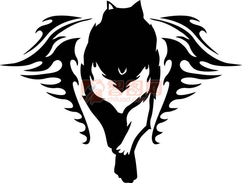 狼花纹元素