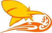 黄色鲨鱼花纹元素