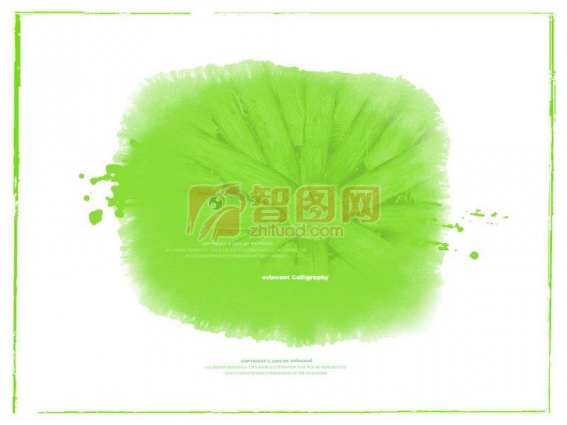 綠色墨跡素材