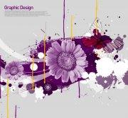 紫色鮮花花紋