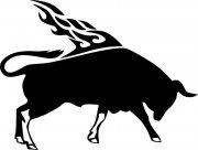 公牛花纹元素