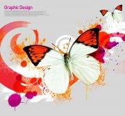 蝴蝶花紋設計