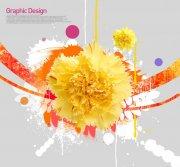 黃色鮮花花紋