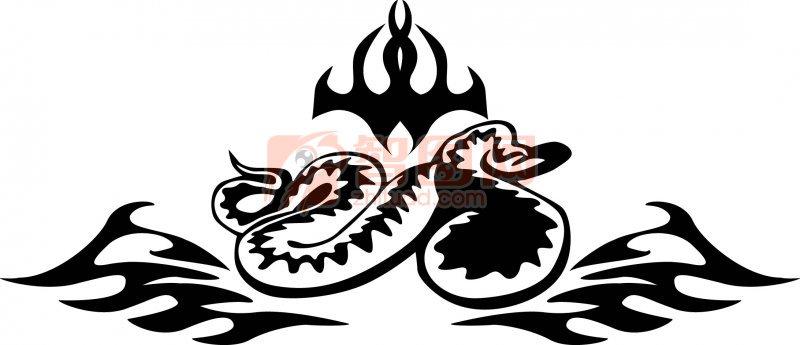 底纹边框 花纹花边  关键词: 蛇元素 黑色花纹 花纹线条 花纹图案 蛇