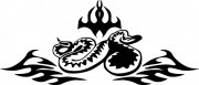 蛇花纹图案