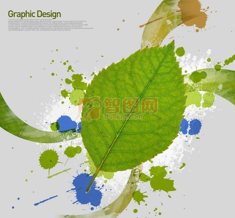 绿色叶子花纹
