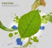 綠色葉子花紋