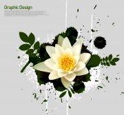 白色鮮花花紋