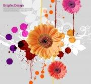 五色鮮花花紋