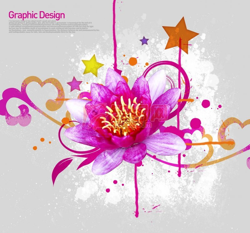 粉紅色鮮花花紋