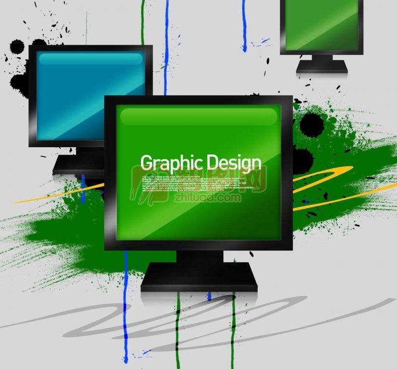 電腦顯示屏花紋設計