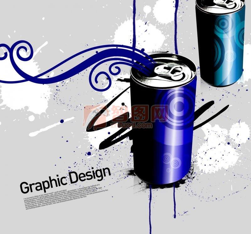 易拉罐花紋設計