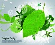绿叶花纹设计