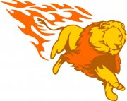 黄色狮子花纹设计