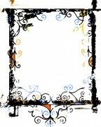 黑色花纹边框设计